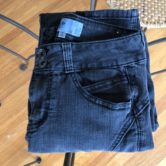 Jolt Denim - Washed Black Asymmetric jeans